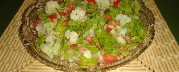 salada de feijão com