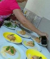 Montando pratos risotos 1